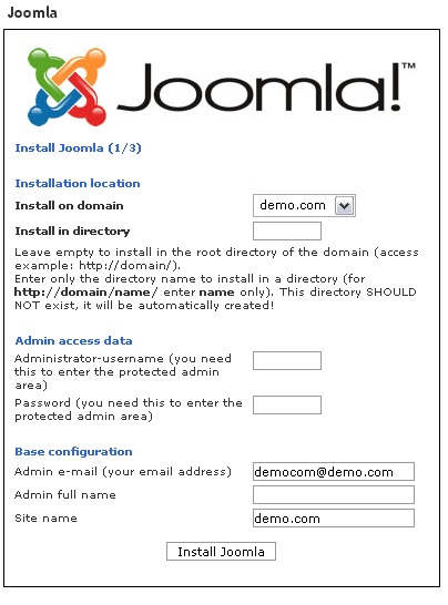 Setting Up Fantastico On Your Joomla3